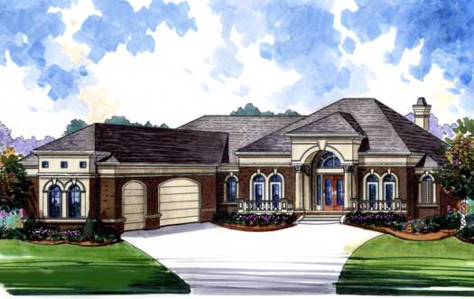 European Style House Plans Plan: 66-250