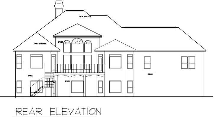 Rear Elevation Plan: 66-250