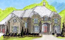 European Style House Plans Plan: 66-262