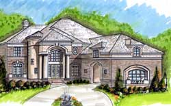 European Style House Plans Plan: 66-264