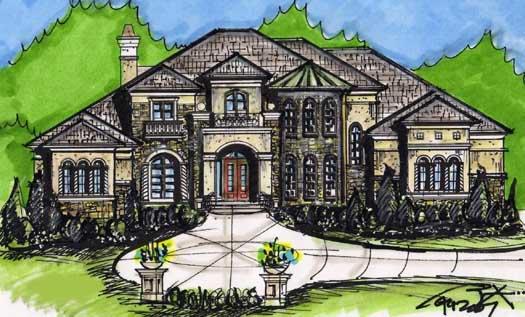 European Style House Plans Plan: 66-265