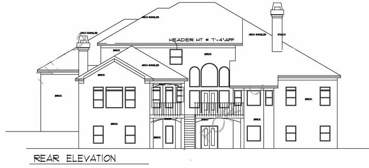 Rear Elevation Plan: 66-265