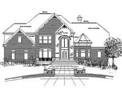 French-Country Style Floor Plans Plan: 66-267