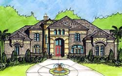 European Style Floor Plans Plan: 66-268