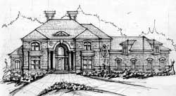 European Style Home Design Plan: 66-320