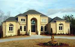 European Style Home Design Plan: 66-322