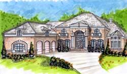 European Style House Plans Plan: 66-328