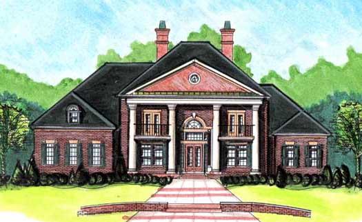 Georgian Style House Plans Plan: 66-373