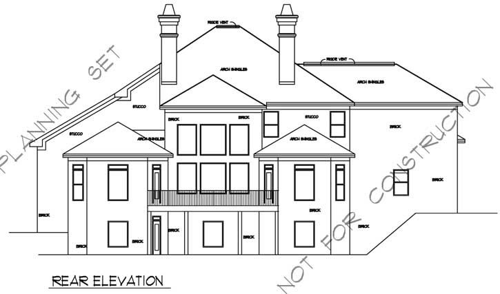Rear Elevation Plan: 66-373