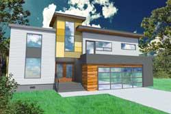Modern Style House Plans Plan: 67-101