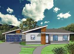 Modern Style Floor Plans Plan: 67-110