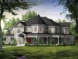 Victorian Style House Plans Plan: 68-109
