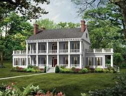 Plantation Style Floor Plans Plan: 68-114
