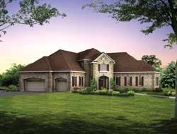 European Style House Plans Plan: 68-119