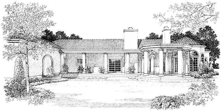 Rear Elevation Plan: 68-121