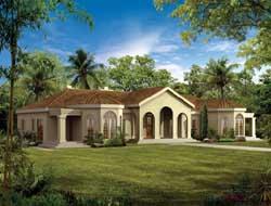 Sunbelt Style House Plans Plan: 68-121