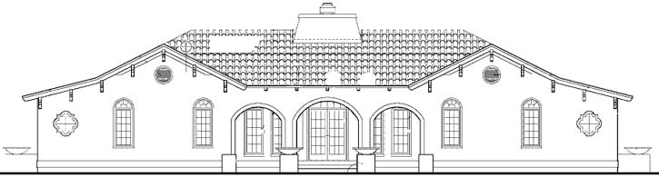 Rear Elevation Plan: 68-122