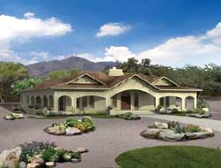 Southwest Style Home Design Plan: 68-123