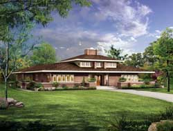 Contemporary Style Home Design Plan: 68-124