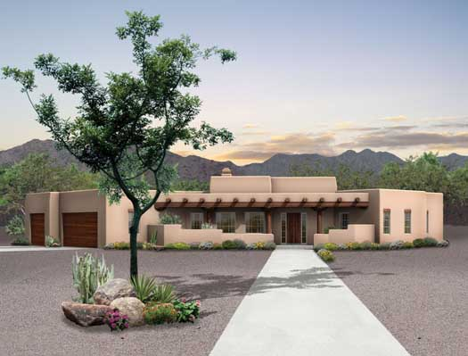 Santa Fe House Plan 3 Bedrooms 2 Bath 2015 Sq Ft Plan 68 127