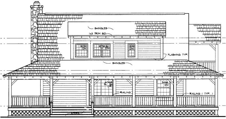 Rear Elevation Plan: 68-134