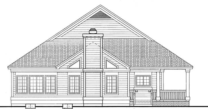 Rear Elevation Plan: 68-136