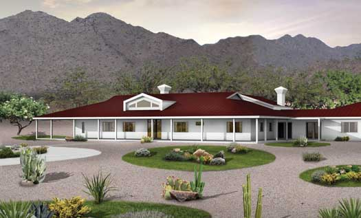 Southwest Style House Plans Plan: 68-137