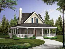 Farm Style Home Design Plan: 68-140