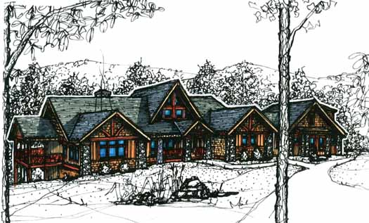 Mountain-or-rustic Style Home Design Plan: 69-903