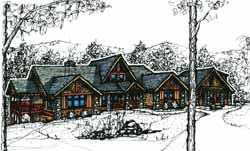 Mountain-or-Rustic Style Home Design 69-903