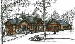 Mountain-or-Rustic Style House Plans Plan: 69-904