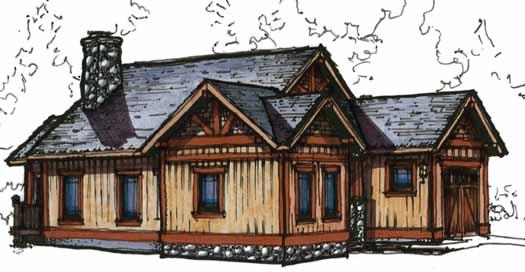 Craftsman Style Floor Plans Plan: 69-906