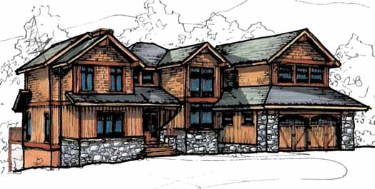 Craftsman Style Floor Plans Plan: 69-907