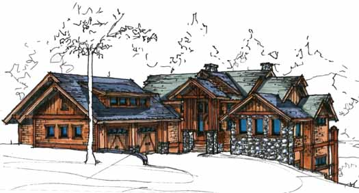 Mountain-or-rustic Style Floor Plans Plan: 69-910