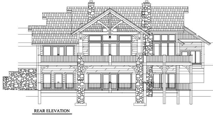 Rear Elevation Plan: 69-910