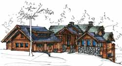 Mountain-or-Rustic Style Home Design Plan: 69-910