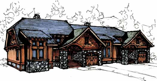 Mountain-or-rustic Style Home Design Plan: 69-911