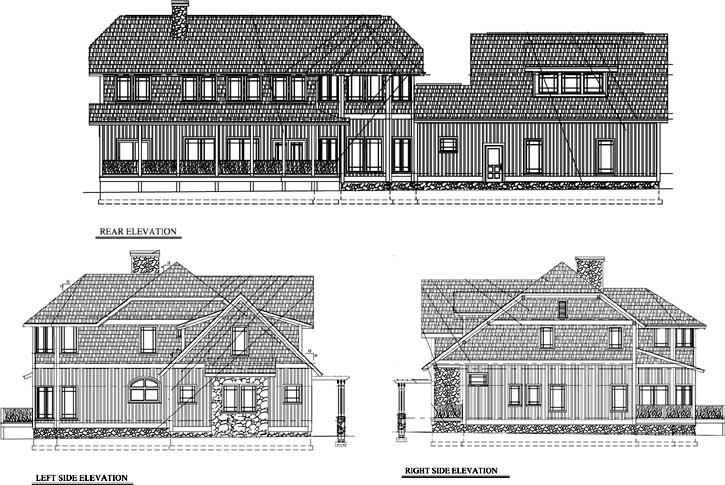 Rear Elevation Plan: 69-912
