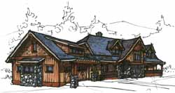 Mountain-or-Rustic Style Floor Plans Plan: 69-912