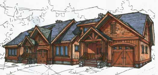 Mountain-or-rustic Style Home Design Plan: 69-913