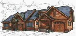 Mountain-or-Rustic Style Floor Plans Plan: 69-913