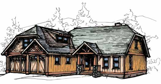 Mountain-or-rustic Style Home Design Plan: 69-916