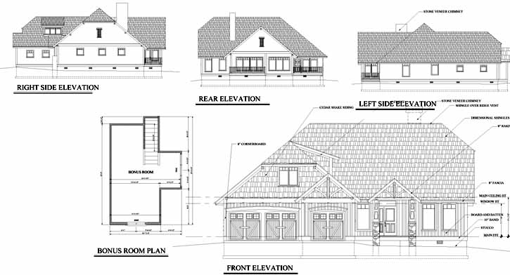 Rear Elevation Plan: 69-916