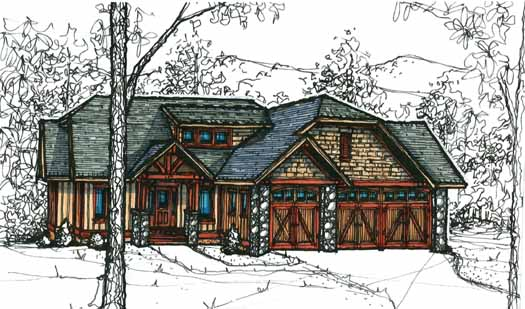 Craftsman Style House Plans Plan: 69-918