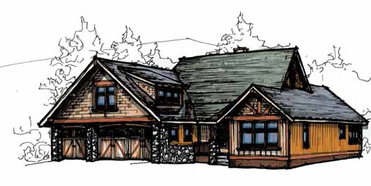 Craftsman Style Floor Plans Plan: 69-919