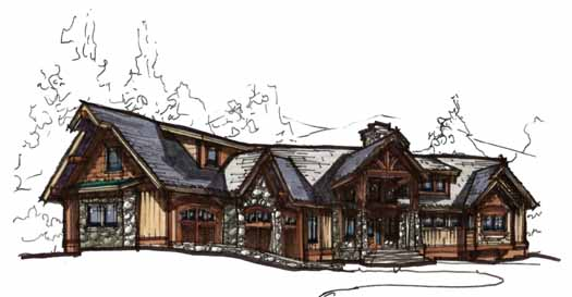 Mountain-or-rustic Style Home Design Plan: 69-921