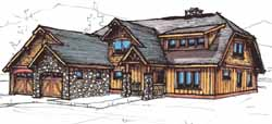 Mountain-or-Rustic Style Home Design Plan: 69-922