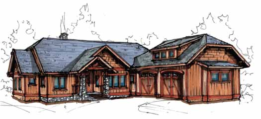Mountain-or-rustic Style Home Design Plan: 69-923