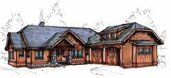 Mountain-or-Rustic Style Floor Plans Plan: 69-923