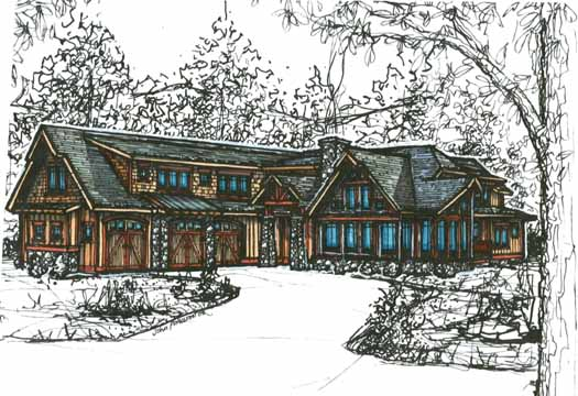 Mountain-or-rustic Style Floor Plans Plan: 69-924